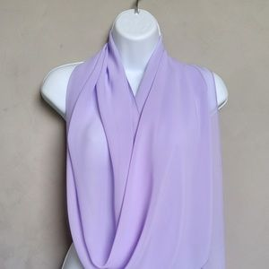 Lavender Scarf, Purple Scarves, Lilac Sheer Scarf